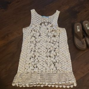 Solitaire Swim Lace Tank